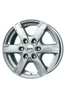 Alutec Titan Polar Silver 7x16 6x114.3 DIA66.1 ET45 Diamond Black Front Polished
